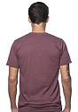 Unisex Triblend Short Sleeve Tee TRI BURGUNDY Back