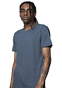 Unisex Triblend Short Sleeve Tee TRI PACIFIC BLUE Side