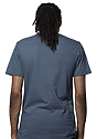 Unisex Triblend Short Sleeve Tee TRI PACIFIC BLUE Back