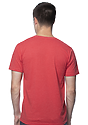 Unisex Triblend Short Sleeve Tee TRI RED Back