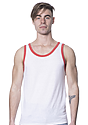 Unisex Triblend Tank Top TRI WHITE / TRI RED Front