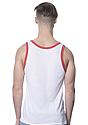 Unisex Triblend Tank Top TRI WHITE / TRI RED Back