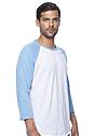 Unisex Triblend Raglan Baseball Shirt TRI WHITE / TRI POOL Back