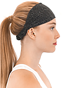 TRIBLEND JERSEY MULTIPURPOSE FACE MASK / HEADBAND TRI ONYX Side