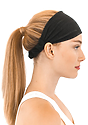 TRIBLEND JERSEY MULTIPURPOSE FACE MASK / HEADBAND TRI BLACK Side
