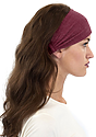 TRIBLEND JERSEY MULTIPURPOSE FACE MASK / HEADBAND TRI BURGUNDY Front