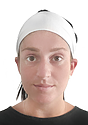 TRIBLEND JERSEY MULTIPURPOSE FACE MASK / HEADBAND TRI WHITE Front