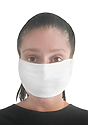 TRIBLEND JERSEY MULTIPURPOSE FACE MASK / HEADBAND TRI WHITE Side
