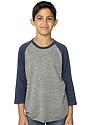 Youth Triblend Raglan Baseball Shirt  Front