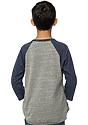 Youth Triblend Raglan Baseball Shirt  Back