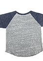 Infant Triblend Raglan Baseball Shirt TRI VNTG GRY / TRI DNM NVY Laydown_Back