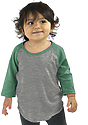 Infant Triblend Raglan Baseball Shirt TRI VINTAGE GREY KELLY Front