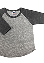 Infant Triblend Raglan Baseball Shirt TRI VINTAGE GREY/TRI ONYX Laydown