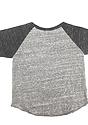 Infant Triblend Raglan Baseball Shirt TRI VINTAGE GREY/TRI ONYX Laydown_Back