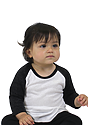 Infant Triblend Raglan Baseball Shirt TRI WHITE / TRI BLACK Side
