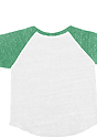 Infant Triblend Raglan Baseball Shirt TRI WHITE / TRI KELLY Laydown_Back