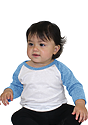 Infant Triblend Raglan Baseball Shirt TRI WHITE / TRI POOL Side