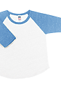 Infant Triblend Raglan Baseball Shirt TRI WHITE / TRI POOL Laydown