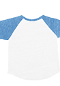 Infant Triblend Raglan Baseball Shirt TRI WHITE / TRI POOL Laydown_Back