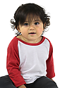 Infant Triblend Raglan Baseball Shirt TRI WHITE / TRI RED Side