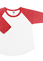 Infant Triblend Raglan Baseball Shirt TRI WHITE / TRI RED Laydown