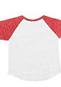 Infant Triblend Raglan Baseball Shirt TRI WHITE / TRI RED Laydown_Back