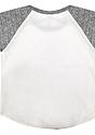 Infant Triblend Raglan Baseball Shirt TRI WHITE / TRI VINTAGE GREY Laydown_Back