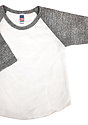 Infant Triblend Raglan Baseball Shirt TRI WHITE / TRI VINTAGE GREY Laydown