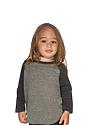 Toddler Triblend Raglan Baseball Shirt  Front