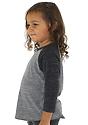 Toddler Triblend Raglan Baseball Shirt  Side