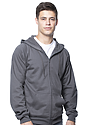 Unisex Organic Cotton Full Zip Hoodie  Side
