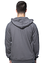 Unisex Organic Cotton Full Zip Hoodie  Back