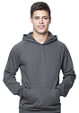 Unisex Organic Cotton Pullover Hoodie SLATE Front