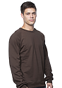 Unisex Organic Raglan Crew Neck Sweatshirt  Side