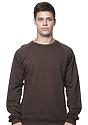 Unisex Organic Raglan Crew Neck Sweatshirt BARK Front