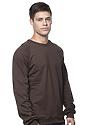 Unisex Organic Raglan Crew Neck Sweatshirt BARK Side