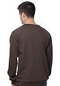 Unisex Organic Raglan Crew Neck Sweatshirt BARK Back