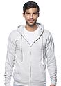 Unisex Triblend Fleece Zip Hoodie TRI ASH Front