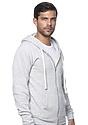 Unisex Triblend Fleece Zip Hoodie TRI ASH Side