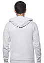Unisex Triblend Fleece Zip Hoodie TRI ASH Back
