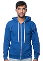Unisex Triblend Fleece Zip Hoodie TRI DEEP ROYAL Front