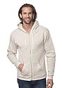 Unisex Triblend Fleece Zip Hoodie TRI OATMEAL Front