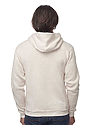 Unisex Triblend Fleece Zip Hoodie TRI OATMEAL Back