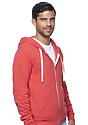 Unisex Triblend Fleece Zip Hoodie TRI RED Side