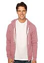 Unisex Triblend Fleece Zip Hoodie TRI DESERT ROSE Front