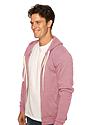 Unisex Triblend Fleece Zip Hoodie TRI DESERT ROSE Side