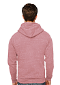 Unisex Triblend Fleece Zip Hoodie TRI DESERT ROSE Back