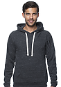 Unisex Triblend Fleece Pullover Hoodie TRI ONYX Front