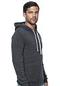 Unisex Triblend Fleece Pullover Hoodie TRI ONYX Side