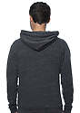 Unisex Triblend Fleece Pullover Hoodie TRI ONYX Back